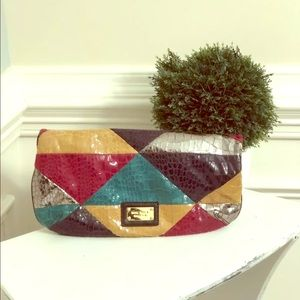 Nine West • Patchwork Clutch • Handbag